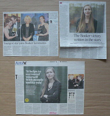 Eleanor Catton - clippings/cuttings/articles- Booker Prize winner The Luminaries