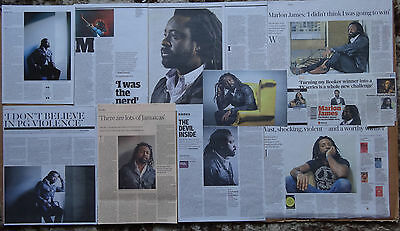 Marlon James - Man Booker Prize Author - clippings/cuttings/articles pack