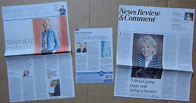 Joanna Trollope - clippings/cuttings/articles pack