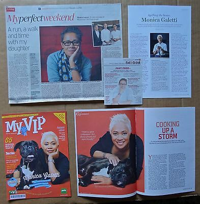 Monica Galetti  - clippings/cuttings/articles pack - MasterChef