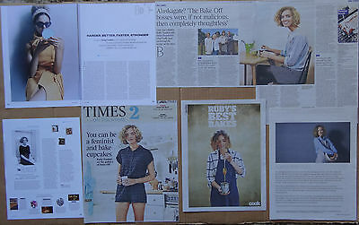 Ruby Tandoh - clippings/cuttings/articles pack - The Great British Bake Off