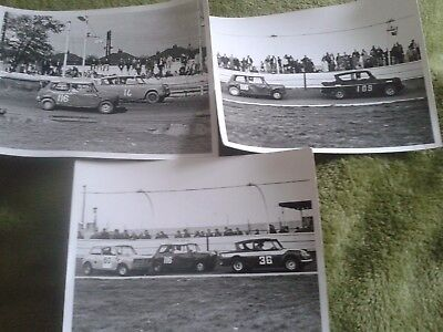 1970s Hot Rod Mini and Ford Anglia Racing professional photos x3 (12)