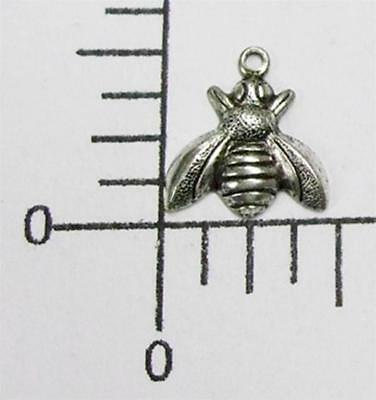 34114         4 Pc Matte Silver Oxidized Small Honey Bee Jewelry Finding Charm