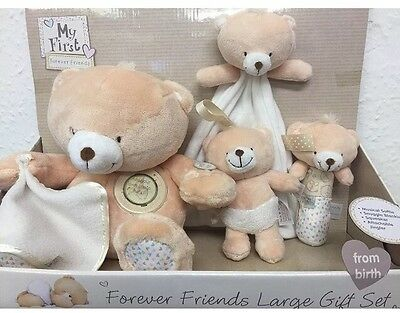 Forever Friends Large Teddy Bear New Baby Gift Set✔️NEW✔️GIFT BOXED✔️FREEPOST