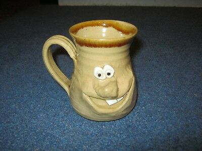 Quirky Ugly Mug,collectable Studio Pottery.