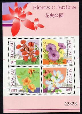 MACAO MNH 1991 SG MS759 Flowers and Gardens (1st series)