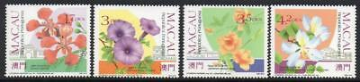MACAO MNH 1991 SG755-58 Flowers and Gardens (1st series)
