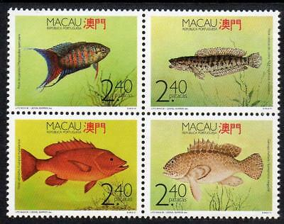 MACAO MNH 1990 SG719-22 Fishes