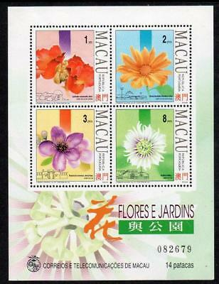 MACAO MNH 1993 SG MS819 Flowers and Gardens (2nd Series)