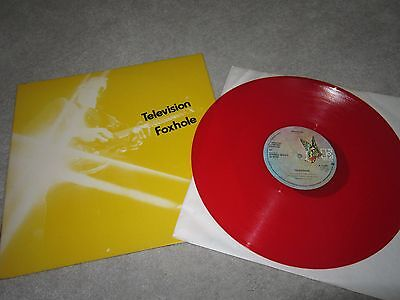 "12"" vinyl single,Television ,Foxhole ,colored disc"