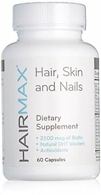 Hydrates & Moisturizes HairMax Dietary Supplement For Hair Skin & Nails 60 caps