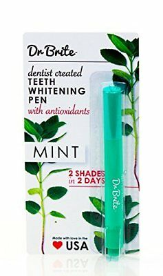 Dr. Brite Teeth Whitening Pen w/ Antioxidants Brighten Smile up to Eight Shades