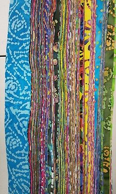 """strips Lot of 25-2.5/"""" SOLID colors cotton fabric-grab bag jelly roll quilt"""