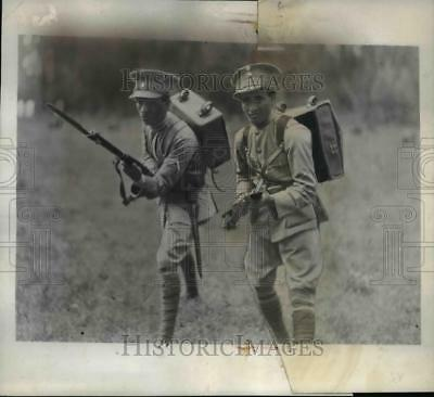 1935 Press Photo Ethiopian Troops in Maneuvers in Country Near Addis Ababa