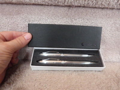 HIGH QUALITY Silver Color Leed's Coca Cola Pen and Pencil Set Twist Action