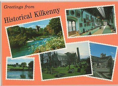 Greetings From Historical Kilkenny Ireland Old Postcard 0945