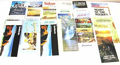 25--Vintage--State And City Fold Out Road Maps