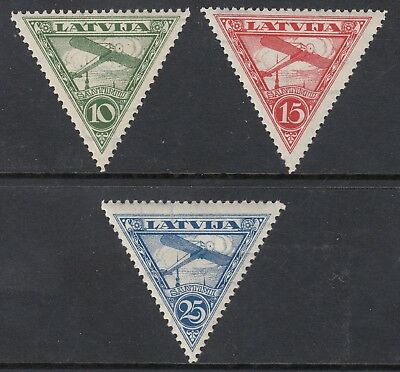 LATVIA 1931-32 AIR MAIL, set of 3, Mint Never Hinged