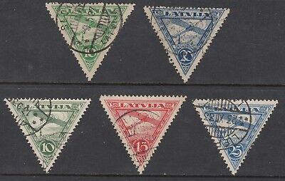 LATVIA 1921 and 1931-32 AIR MAIL, sets, USED