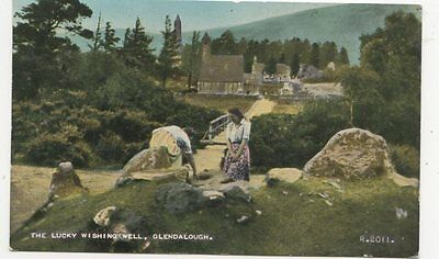 The Lucky Wishing Well Glendalough Ireland 1964 Postcard 128a
