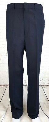 """Vtg Blue (Red/Blue) Pinstripe Tapered Leg Poly Rayon """"Haggar"""" Trousers W33 ED65"""