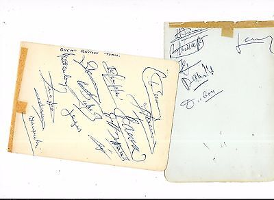 20 x Original Hand Signed Autographs Of Great Britain Rugby League Players