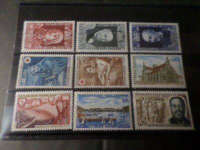 FRANCE - LOT A timbres année 1969, neufs**, LUXE, VF MNH STAMPS