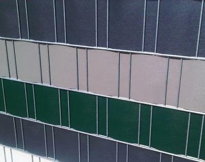 Privacy Strips PP Screen MOSS GREEN O Anthracite Fence 0,19 x 25,3 M