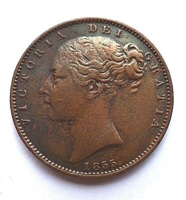 Victoria Young Head 1855 Farthing aVF