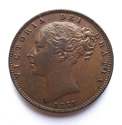 Victoria Young Head 1857 Farthing VF+