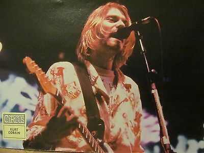 Kurt Cobain, Nirvana, Dave Grohl, Double Full Page Vintage Pinup
