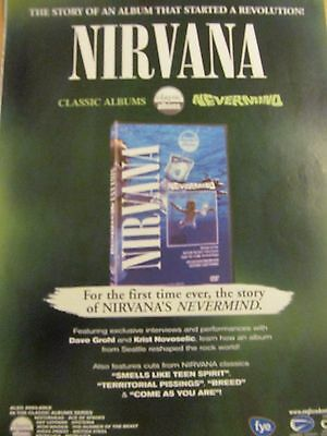 Nirvana, Nevermind, Full Page Vintage Promotional Ad