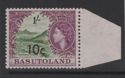 BASUTOLAND SG64a 1961 10c on 1/- BRONZE-GREEN & PURPLE TYPE II MNH