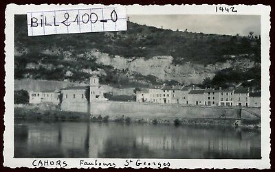 Cahors ( Lot )  Faubourg St-Georges . photo ancienne . Juin 1946