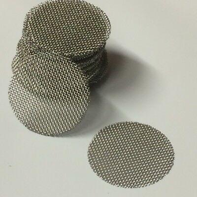 """50 COUNT Stainless Steel T304 Wire Mesh Screen Filter Discs 3/4"""" MADE IN USA!"""