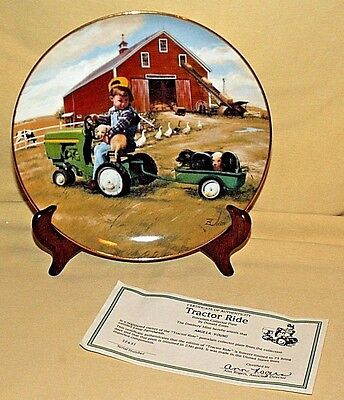 John Deere Plate Tractor Ride Donald Zolan Little Farmhands I2631 Danbury Mint
