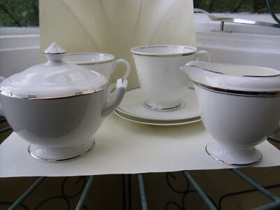 Royal Worcester Silver Jubilee - 2 x Cups and Saucers, 1 x Jug and 1 x Sugar Bow