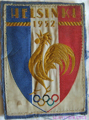 Patch Equipe De France Olympic Games Helsinki 1952