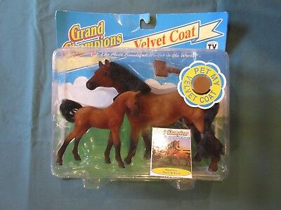 NOS 1993 Marchon Grand Champions Mustang Mare & Foul NO. 50033 Poseable Horse