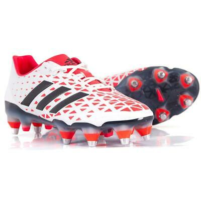 adidas adipower Kakari SG Men's Lightweight Rugby Boots Soft Ground White Red