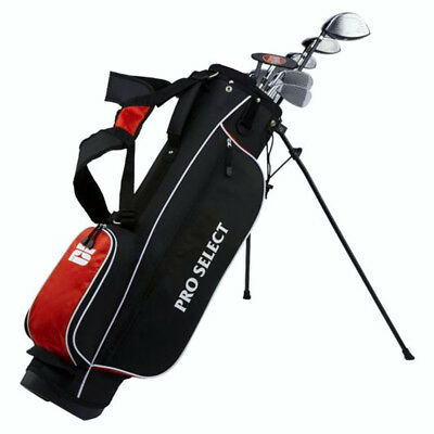 NEW Pro Select Red 13 Piece Complete Golf Set Driver,Irons,Putter Pick Dexterity