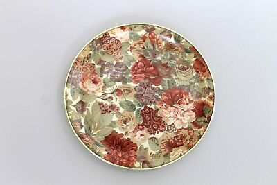 Vintage Fibreglass Floral Round Tray Retro Shabby Chic 1950s?excellent condition