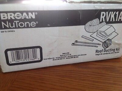 Broan NuTone RVK1A Roof Ducting Kit...