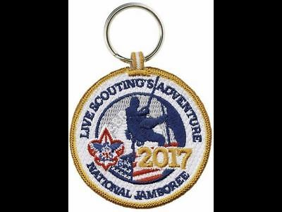 2017 Boy Scout Official National Jamboree  2 Sided Patch Emblem Bsa Key Ring New