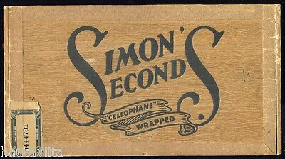 Simons Seconds Wood Cigar Box Montreal Quebec Canada 1918 20c Scarce Rare Beauty