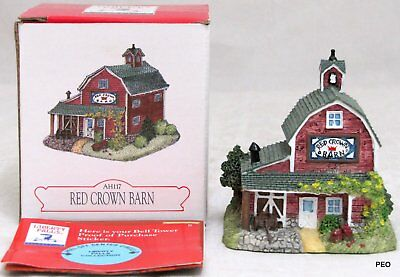 """Liberty Falls Collection """"Red Crown Barn"""" Village Figurine with Box AH117"""