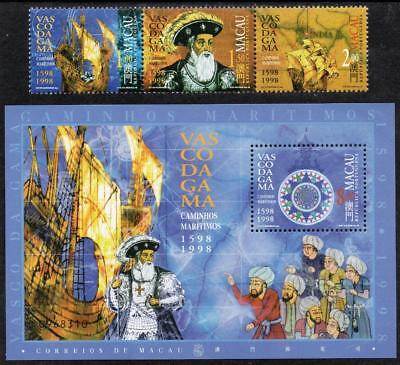 "MACAO MNH 1998 SG1040-42 Gama's Voyage  - Wrongly Dated ""1598-1998"" + M/S"