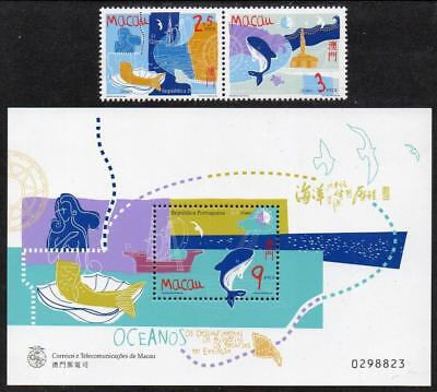 MACAO MNH 1998 SG1048-49 International Year of the Ocean + M/S