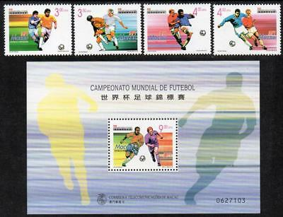 MACAO MNH 1998 SG1051-54 Football World Cup - France + M/S