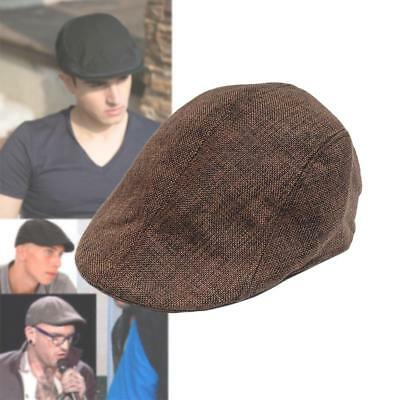 été Cabbie Newsboy Cap Homme Plaid Hat Ivy Golf Driving Sun Flat Vintage Café KS
